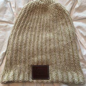 Cream/tan love your melon winter hat NWOT